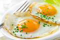 Healthy breakfast with fried eggs Royalty Free Stock Photo