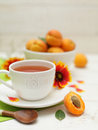 Healthy breakfast - summer fruit and tea Royalty Free Stock Photography