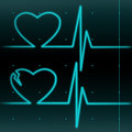 Healthy and a broken hearts cardiograms Stock Photos