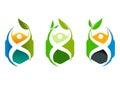 Healthy cube logo, wellness center concept design