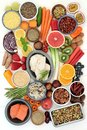 Healthy Diet Food Selection Royalty Free Stock Photo