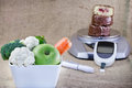 Healthy diet and regular control diabetes of sugar to avoid Royalty Free Stock Photography