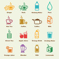 Healthy drink elements vector infographic icons Stock Images
