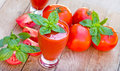 Healthy drink refreshing drink tomato smoothie juice Stock Photos