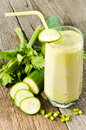 Healthy drink vegetable juice rustic wood Royalty Free Stock Photos