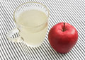 Healthy drinks aloe vera juice and apple drink to health and weight loss Royalty Free Stock Image