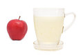 Healthy drinks aloe vera juice and apple drink to health and weight loss Stock Photography