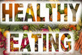 Healthy Eating - Fruit & Vegetables - Dieting Royalty Free Stock Photo