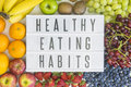 Healthy eating habits with fruit different types of fresh fruits Stock Photography