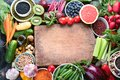 Healthy eating ingredients Royalty Free Stock Photo