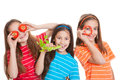 Healthy eating kids concept Royalty Free Stock Photo