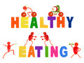 Healthy eating little funny people made of vegetables Stock Image