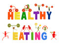 Healthy eating little funny people made of vegetables and fruit fruits on white Royalty Free Stock Photography