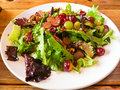 Healthy eating salad with grapes and nuts at a nice restaurant in oregon Stock Images