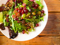Healthy eating salad with grapes and nuts at a nice restaurant in oregon Royalty Free Stock Photos