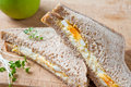 Healthy egg sandwich for lunch Stock Image