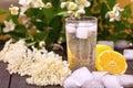 Healthy elder flower lemonade Royalty Free Stock Photo