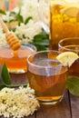 Healthy Elderberry flower refreshment juice Royalty Free Stock Photo