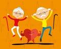 Healthy elderly couple.