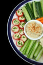 Healthy Entertaining Platter Stock Photo