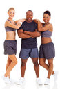 Healthy fitness people group of young over white background Stock Photos