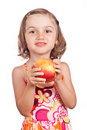 Healthy food apple child Royalty Free Stock Photo