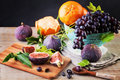Healthy Food Background with Colorful Fruit Royalty Free Stock Photo