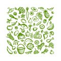Healthy food background sketch for your design this is file of eps format Stock Images