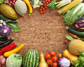 Healthy food background. Studio photo of different fruits and vegetables Royalty Free Stock Photo