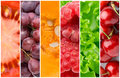 Healthy food backgrounds fruits and vegetables Stock Image