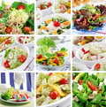 Healthy food collage Stock Images