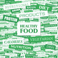 Healthy food concept illustration graphic tag collection wordcloud collage Royalty Free Stock Photos