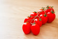 Healthy food: fresh red tomatoes Stock Images