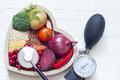 Healthy food in heart and lowering pressure