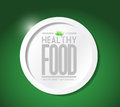 Healthy food lifestyle illustration design over a green background Stock Photo