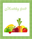 Healthy food menu template vector illustration Royalty Free Stock Photos