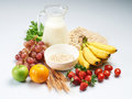 Healthy food and milk Royalty Free Stock Images