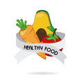 Healthy food over white background vector illustration Stock Photography