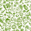 Healthy food seamless pattern sketch for your design this is file of eps format Stock Image