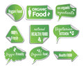 Healthy food stickers set vector illustration of the Royalty Free Stock Images