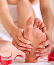 Healthy foot massage soft focus Royalty Free Stock Image