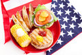 Healthy Fourth of July Picnic Royalty Free Stock Image