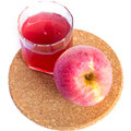Healthy fresh juice of apples on white Stock Photo