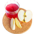Healthy fresh juice of apples on white Royalty Free Stock Image
