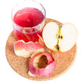 Healthy fresh juice of apples on white Royalty Free Stock Photos