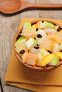Healthy fruits salad Stock Image