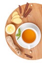 Healthy ginger tea with lemon and spices Stock Photo