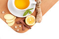 Healthy ginger tea with lemon and spices Stock Photography