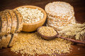 Healthy grains, cereals and whole wheat bread