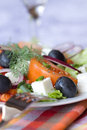 Healthy greek salad Stock Images